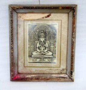 Vintage Old Rare Original Hindu Jain Lord Parshwanath Black And White Photograph