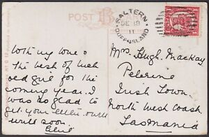 QLD numeral cancellation 489 of SALTERN [rated R] on Cover. Type 2b, 8.5mm