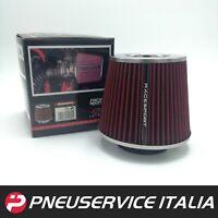 Filtro Aria sportivo a CONO universale per auto Lavabile Diametri 60/65/70/77/90
