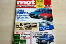 1) MOT 21/1985 - Peugeot 305 Automatic mit 90PS - Mitsubishi Space Wagon 4WD mit