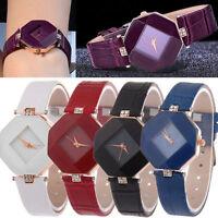 Womens Quartz Diamond Leather Stainless Steel Analog New Wrist Watches Ladies