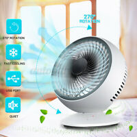 Portable  270° USB Desk Fan Small Quiet Personal Cooler USB Powered Table Fan