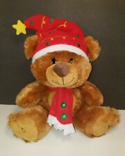 "AGC Plush Brown Christmas Bear 9"" Stuffed Animal Toy American Greetings NWOT"