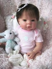 Lee Middleton MUNCHKIN REBORN Baby Girl Doll 3/4 Limbs Adorable Collectible OOAK