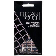 1x Elegant Touch Envy Nail Wraps Black and Diamond