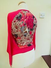 Ted baker Dazey Sequin print Wrap Size 1 Red RRP£99 -- VERY PRETTY!!