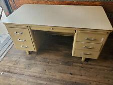"""Invincible Metal Furniture Co Industrial Vintage All-Steel Tanker Desk 30"""" x 60"""""""