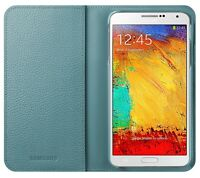 Samsung Mini Purse Cover Case for Galaxy Note 3 - Blue Lime