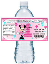 MINNIE MOUSE AND DAISY DUCK BIRTHDAY PARTY FAVORS WATER BOTTLE LABELS WRAPPERS Celebration & Occasion Supplies