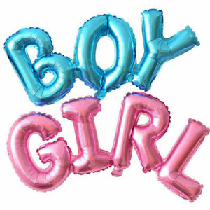 Large Baby Shower Balloons Boy or Girl Foil Gender reveal Party Decorations