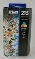 Epson 215 Black/Tri-Color Ink Cartridges, Standard Yield Expires 10/2021