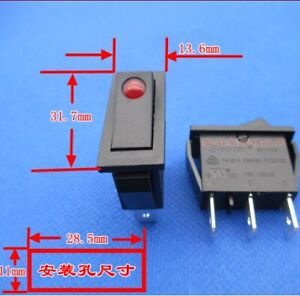 SOKEN RK1-15 Rocker Switch 16A 125/250VAC T100/55 3 Pins 2 Positions Maintained