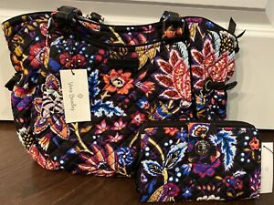 NEW Vera Bradley FOXWOOD Iconic Glenna Tote & RFID Turnlock Wallet - EXACT ITEM
