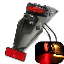 MOTORCYCLE TRIAL DIRT BIKE ENDURO REAR FENDER LED STOP BRAKE TAIL PLATE LIGHT