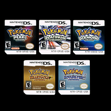 Pokemon Nintendo DS Labels Stickers Platinum Diamond Pearl HeartGold SoulSilver