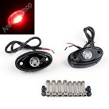 2X 9W Cree LED Rock Light Car Boat Deck Decorative Light Trail Signal Lamp Red.