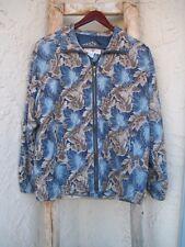 Vntg Silk XPosure Women's Windbreaker Lined Lightweight Jacket Coat M VGUC