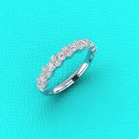 1.00 Ct Garland Diamond Band Wedding Anniversary Ring 14k White Gold GP Sizable