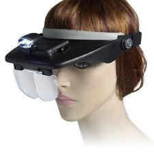 LED Kopflupe Stirnlupe Brillenlupe Lupenbrille Lupe Licht mit 4 Aufsätze