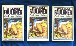 LOT of 3 Copies As I Lay Dying by William Faulkner (1987, Paperback)