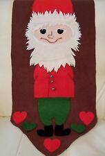 Vintage handmade felt Santa Claus Christmas wall hanging decor