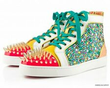 No Limit Christian Louboutin Spiked Rhinestone Zebra Sneakers 38,5