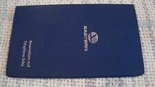 """Vtg Eastern Airlines Telephone Sales BLUE  booklet Cover 6.5"""" x 3.75"""""""