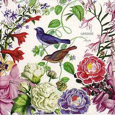 4x Paper Napkins for Decoupage Vintage Romance birds