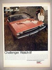 Dodge Challenger PRINT AD - 1969
