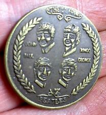 Solid Brass Die Struck Coin Beatles Rock Group 1964 Visit to the United States