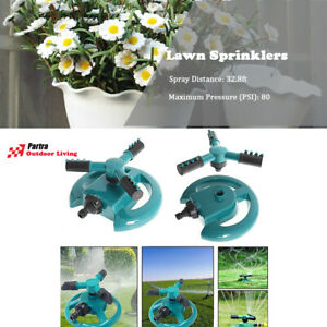 360° Rotating Lawn Sprinkler System Automatic Grass Watering Spray Irrigation