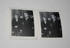 2 Humphrey Bogart Lorrie Casablanca Penny Arcade Movie Promo Photo card 1970s