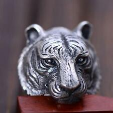 NEW! CUSTOM 925 SOLID STERLING SILVER TIGER | LION HEAD SKULL RING (all sizes)