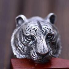 NUOVO! Custom 925 Solido Argento Finissimo tigre | Leone Testa Teschio Anello (tutte le dimensioni)