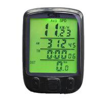 Odometer Waterproof Digital LCD Cycle Bicycle Bike Computer Speedometer Cycling