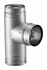 """M&G Duravent  4PVL-TR 4"""" Pellet Stove Chimney Vent Clean Out Tee"""