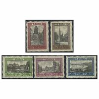 Danzig 1924 Buildings Scenic Definitive Stamps MUH Set of 5 Michel 207/11 (3-6)