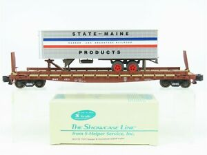 S Scale S-Helper Showcase 00178 BAR Bangor Aroostook Flat Car #451 w/ Trailer