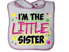 I'm The Little Sister NEON  Rabbit Skins Brand new many colors avail. SNAP BIB