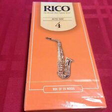 PACK OF 25 RICO Eb ALTO SAXOPHONE REEDS #4 (4)