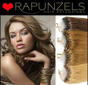 "Rapunzels UK 18"" Micro ring, Micro loop human remy hair extensions 1 gram"