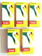 10 x SWAN EXTRA SLIM FILTER TIP 5mm PRE-CUT CIGARETTE TOBACCO 1200 TIPS HALF BOX