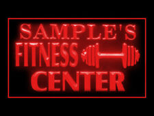 270023 Fitness Center Personalized Your Text Display LED Light Sign