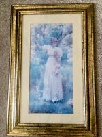 Framed Picture Print-Summer Blossom -Victorian Girl And Cherry Blossom Tree