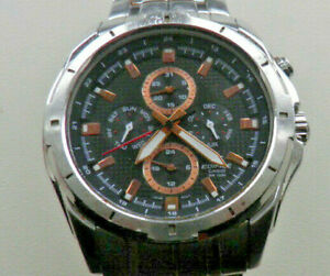 GENTS STAINLESS STEEL CASIO EDIFICE EF-528D-1A5 (3745) CHRONOGRAPH WATCH