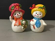 Vintage Christmas Snowman & Lady Napcoware