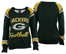 Forever Collectibles NFL Women's Green Bay Packers Glitter Scoop Neck Sweater