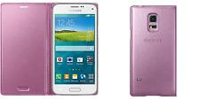 100% Original Samsung Galaxy S5 Flip Cover Hülle Case Tasche Pink C9.F2.9393