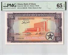 Ghana 1962 P-3d PMG Gem UNC 65 EPQ 5 Pounds