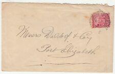 CGH: QV Cover; Cape Town to Messrs Daldorf & Co, Port Elizabeth, 8 April 1893